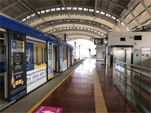 インド・チェンナイの地下鉄(メトロ)の切符の買い方と乗り方