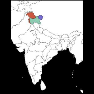 カシミール地図