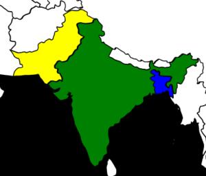 インドとパキスタンの地図