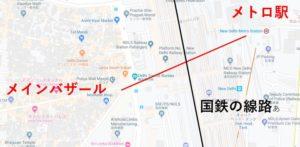 ニューデリー駅地図