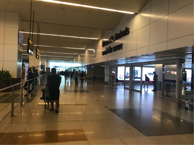 インドのデリー国際空港ターミナル3到着エリアへ外から入場する方法